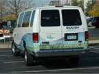 ROUSH CleanTech had a propane-fueled E-350 van on hand. Photo by Chris