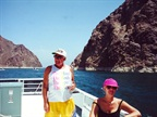 On a house boat at Lake Meade in the 1990s for a family reunion with