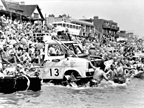 Enter a boat race. Ford engineers once built a floating Transit to