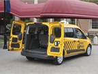 Cargo capcity in the 2014 Ford Transit Connect Taxi is 60.5 cu. ft,