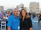 (l to r) Atop the USS Midway during the second night s reception, Phil
