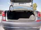 A keyless feature opens the trunk when someone moves a foot near the
