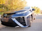 The 2016 Mirai uses larger air intakes to complement the H2-oxygen