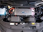Here s a view of the Mirai s fuel cell stack, coolant reservoir, and