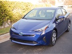 The 2016 Prius takes on exterior design cues from Toyota's Mirai fuel cell sedan.