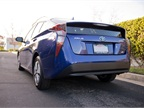 The rear of the Prius has been lowered.