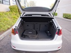 The cargo area offers 13.6 cubic feet for storage.