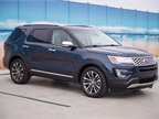 Ford offers five Explorer models, including base, XLT, Limited, Sport, and Platinum (shown).