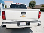 The truck includes corner bumper steps to help when stepping into the