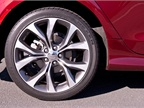19-inch aluminum wheels are offered as an option.