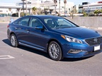 This 2015 Sonata Limited is powered by a 2.4L four-cylinder engine.