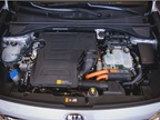The Niro pairs a 1.6-liter gasoline engine with a 43-hp electric