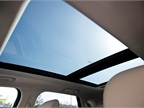 A panoramic sunroof allows drivers to allow partial or full sunlight
