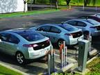 A charging station for Chevrolet Volt models was set up for attendees