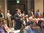 Attendees had ample opportunities to ask questions of the speakers