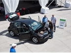 An aerial view of the Chevrolet Bolt EV at the Las Vegas Motor
