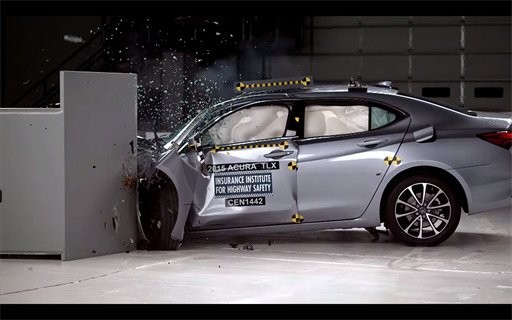 2015 Acura Tlx Iihs Crash Test Videos Safety