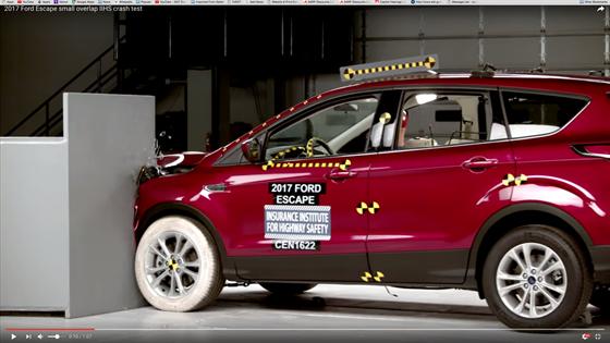 2017 ford escape crash test videos safety accident automotive fleet. Black Bedroom Furniture Sets. Home Design Ideas