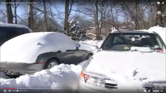 Digging Out A Vehicle Buried In Snow Videos Safety Amp Accident Automotive Fleet