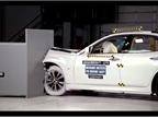 The Infiniti Q70's IIHS Small Overlap Crash Test