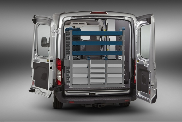 <p>SmartSpace Cargo Management System features stackable shelf units, designed for use in the new high-cube cargo vans coming to market within the next 18 months.</p>