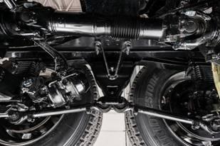 The Mack mRIDE spring suspension.