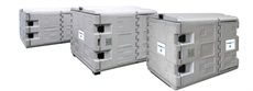 The Mobile Flex-Cool refrigerated containers are designed for the hygienic transportation of temperature-sensitive goods in the food and medical-pharmaceutical areas.