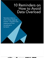 10 Reminders on How to Avoid Data Overload