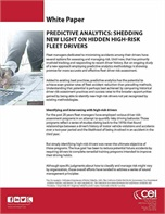 Predictive Analytics: Shedding New Light on Hidden High-Risk Fleet Drivers