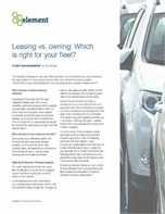 Leasing vs. owning: Which is right for your fleet?