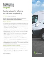 Best Practices for Vehicle Selector Planning