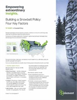 Building a Snowbelt Policy: Four Key Factors