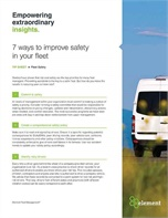 7 Ways to Improve Safety in Your Fleet