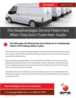 The Disadvantages Service Fleets Face When They Don't Track their Trucks