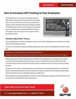 How to Introduce GPS Tracking to Your Employees