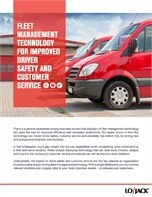 Fleet Management Technology for Improved Driver Safety and Customer Service