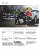 5 Trends in Fleet Management To Watch For in 2017