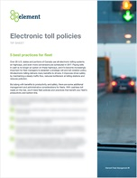 Electronic toll policies: 5 best practices for fleet